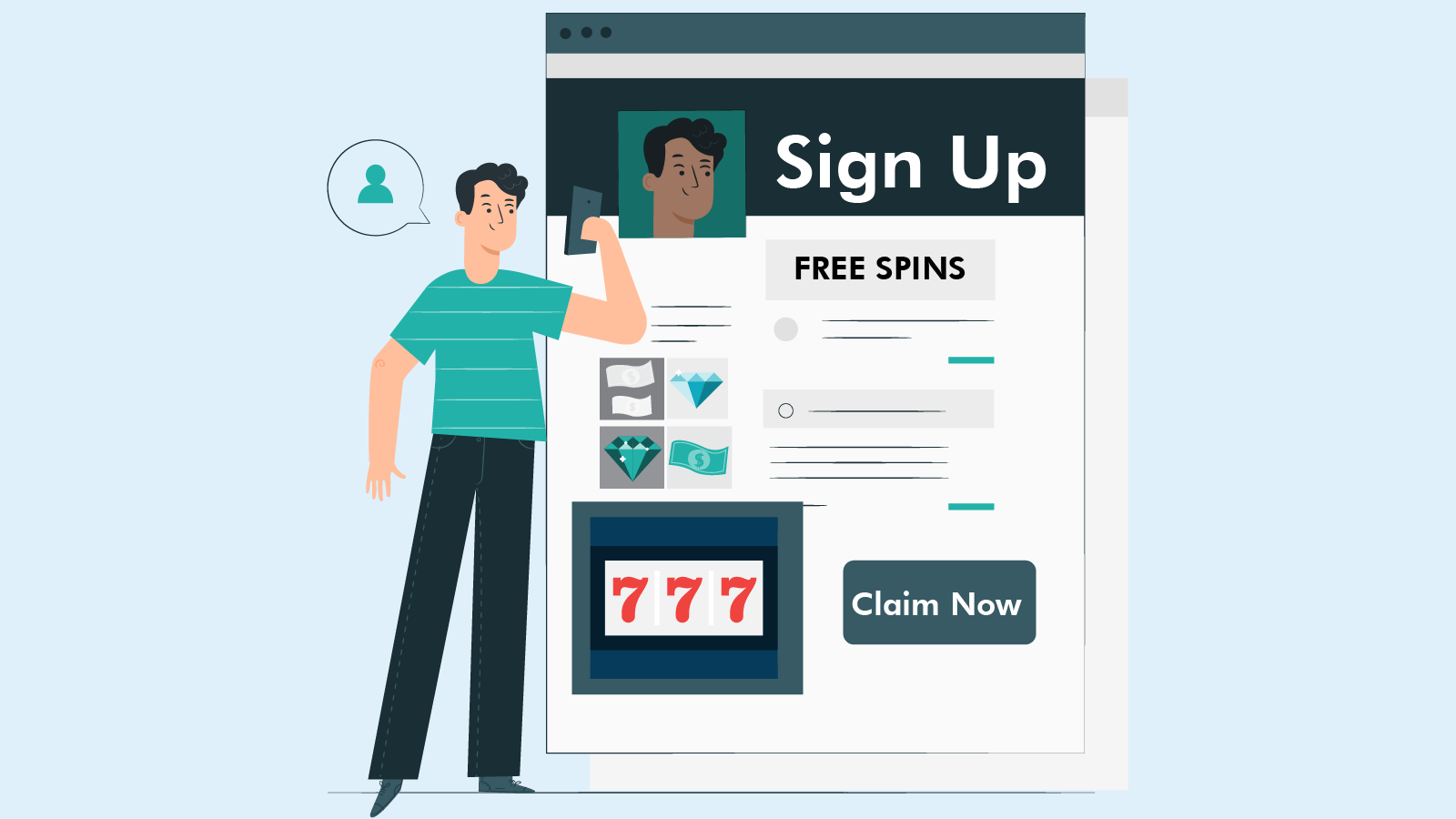 How to claim free spins on sign up