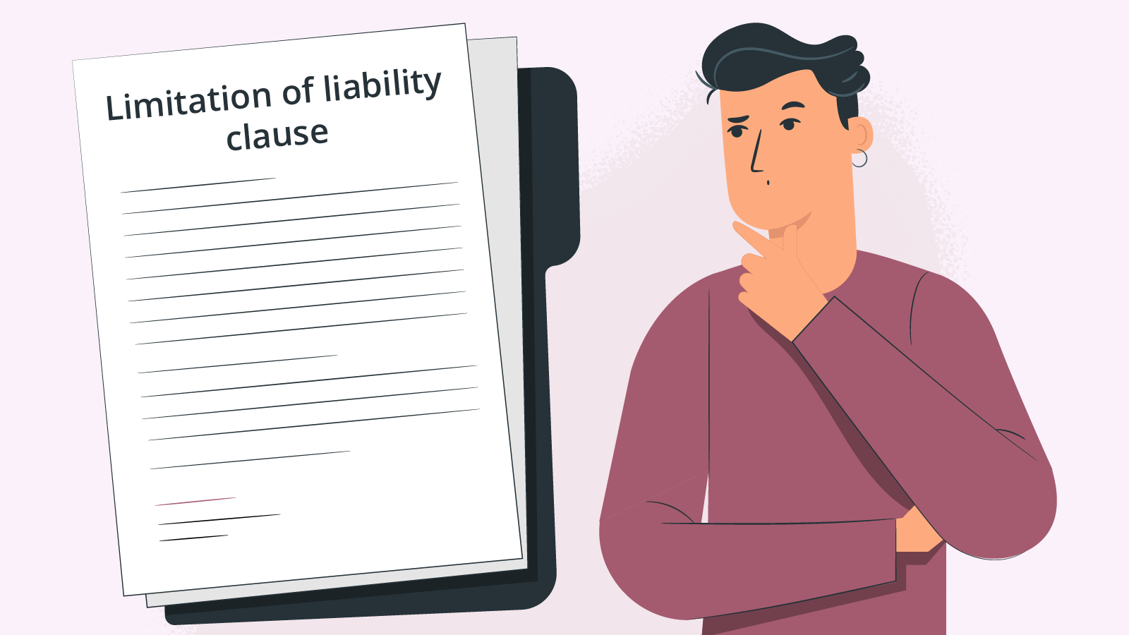 Limitation of liability and copy
