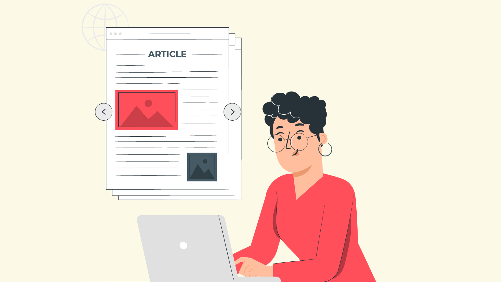 Four types of articles available