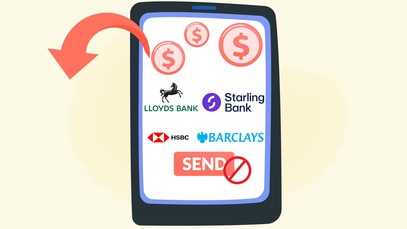 Bank transaction blocking