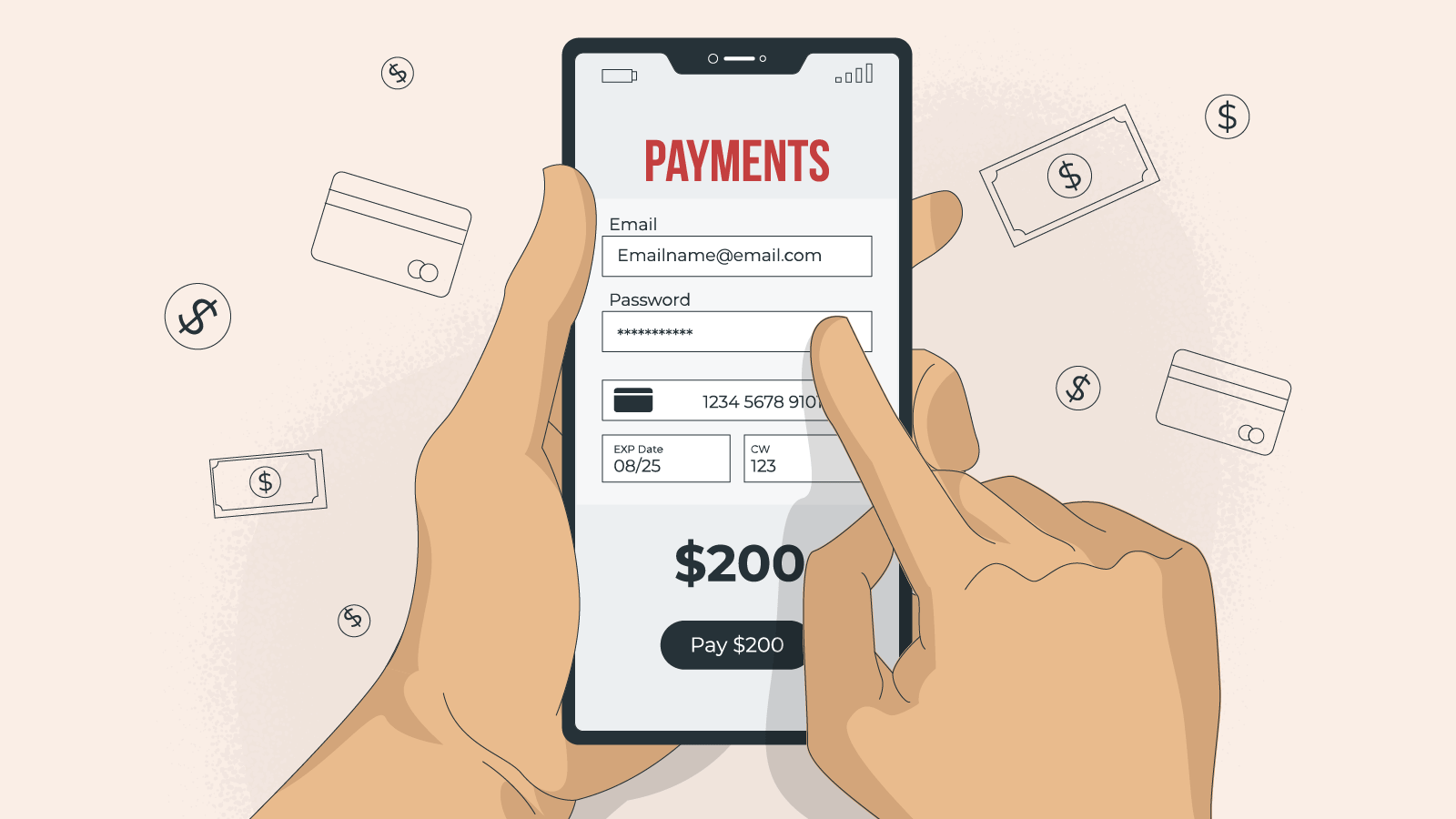 Mobile-friendly payment methods