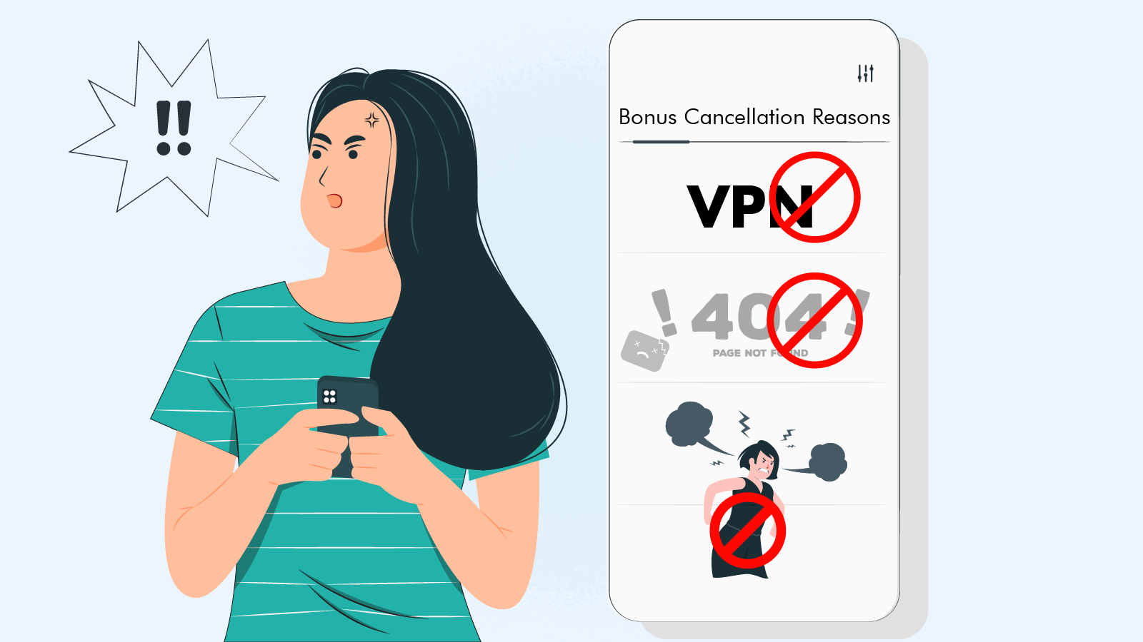 The most common reasons for bonus cancellation