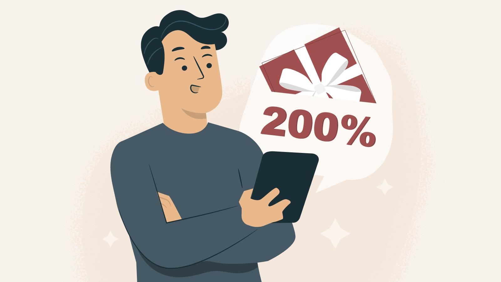 200% Deposit Bonuses UK October 2021