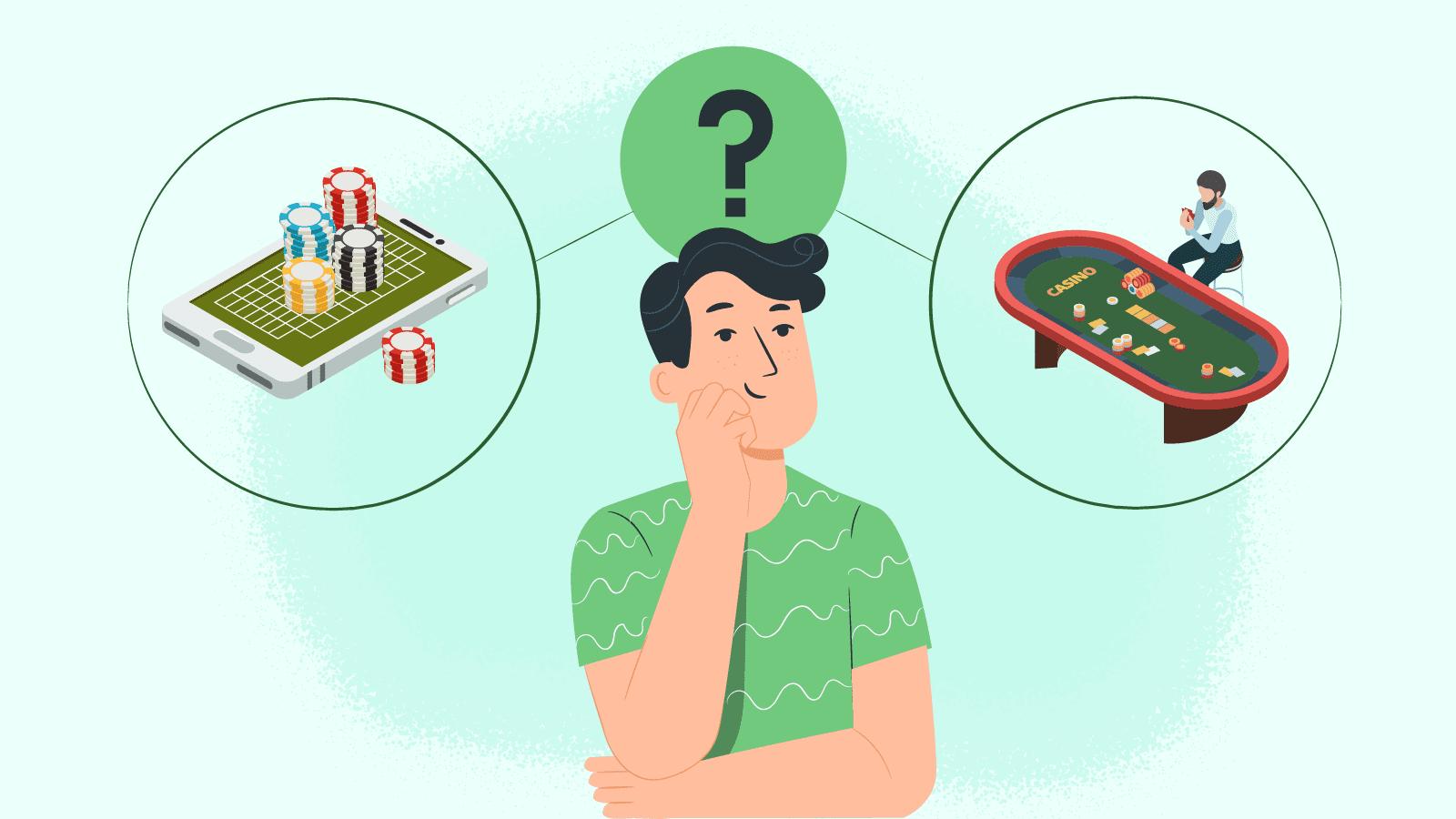 Baccarat Casino Play Land-based VS Online Environs