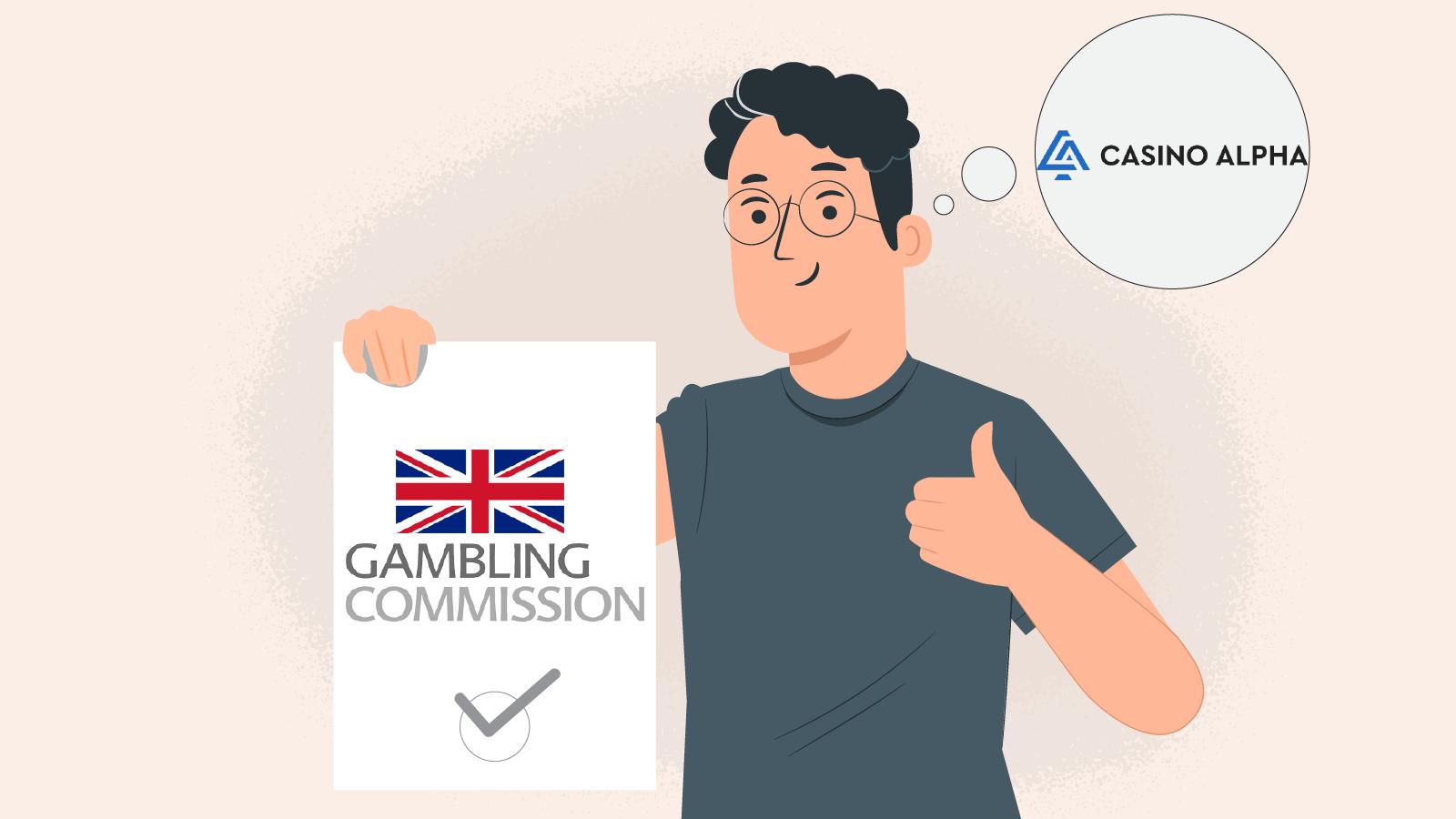 CasinoAlpha's always conform with the UKGC