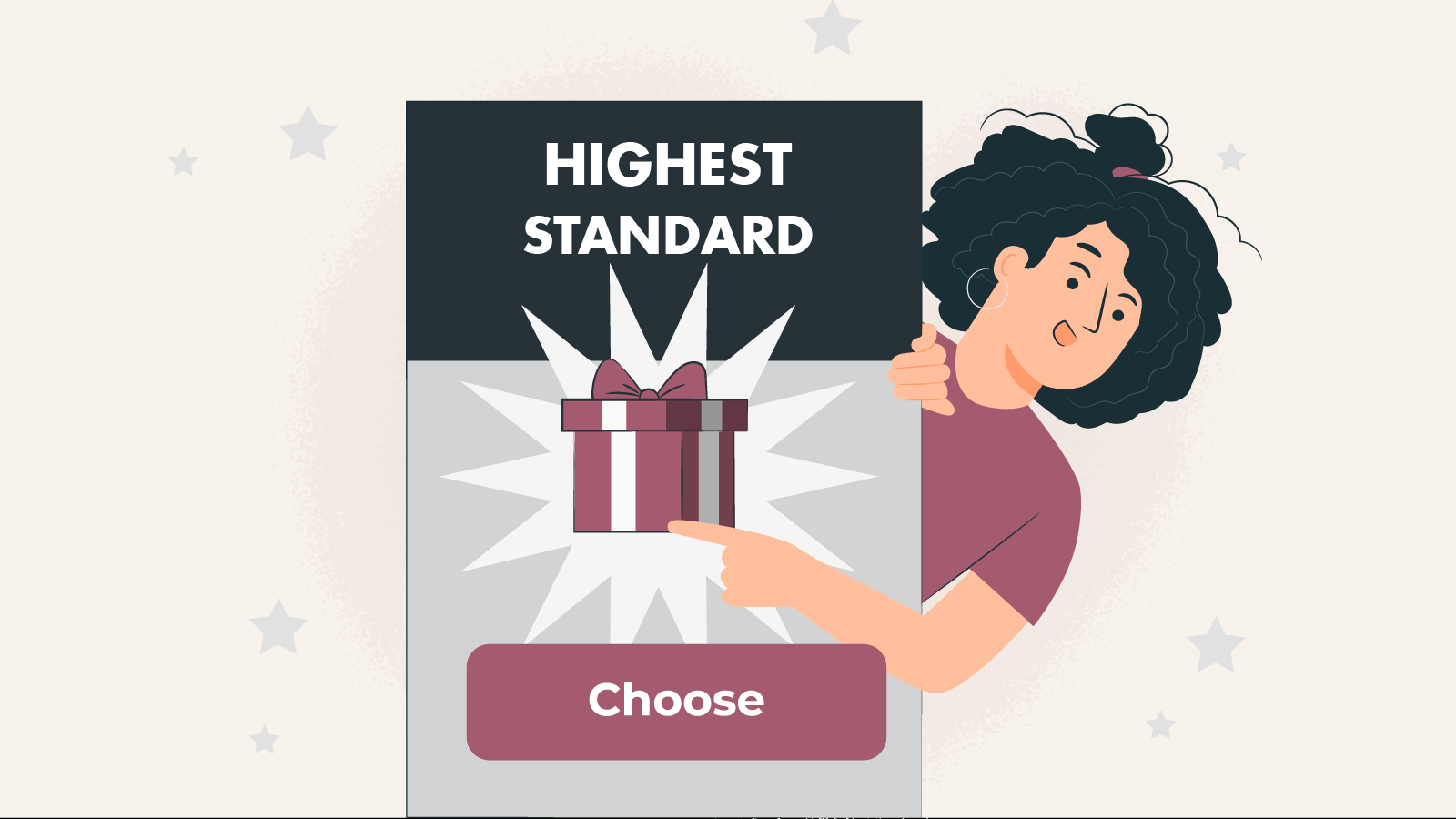 Only the best 100% bonuses at the highest standards