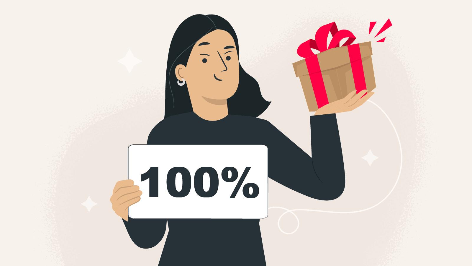 100% Deposit Bonus: Best of UK