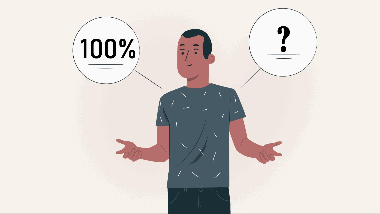 What does the 100% deposit bonus mean
