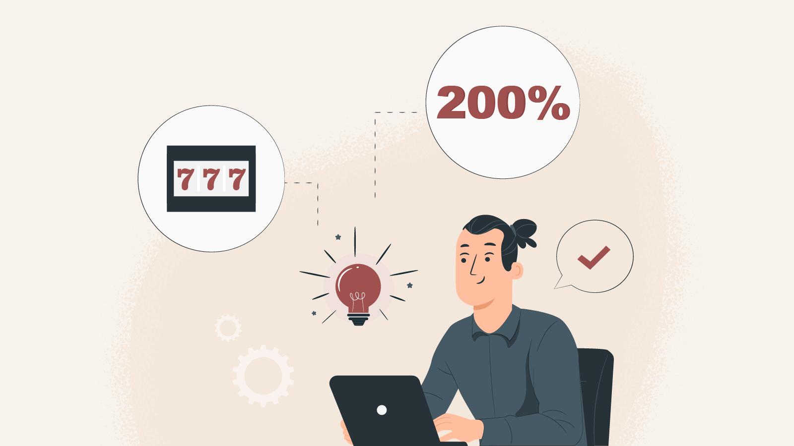 What makes a top-notch 200% Slot bonus